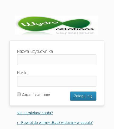 własne logo w panelu logowania wordpress-a