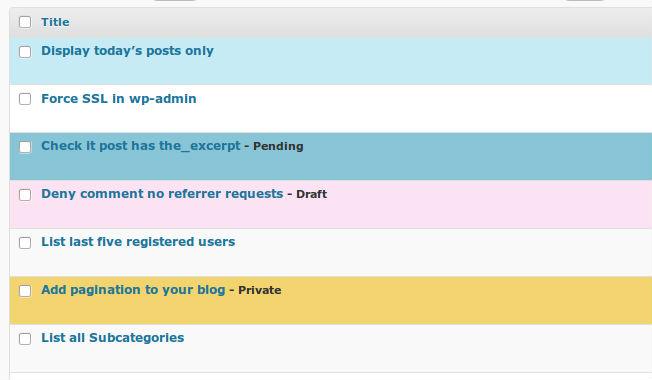 Statusy postów oznaczone kolorami