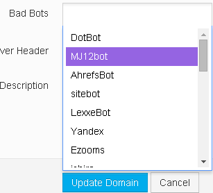 blokada robotow Rocket IPs