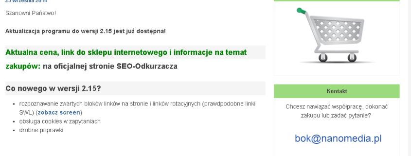 Prawdopodobnie najlepszy polski LINK DETOX