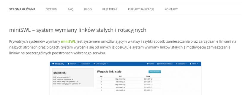 miniSWL – prywatny system wymiany linków stałych i rotacyjnych