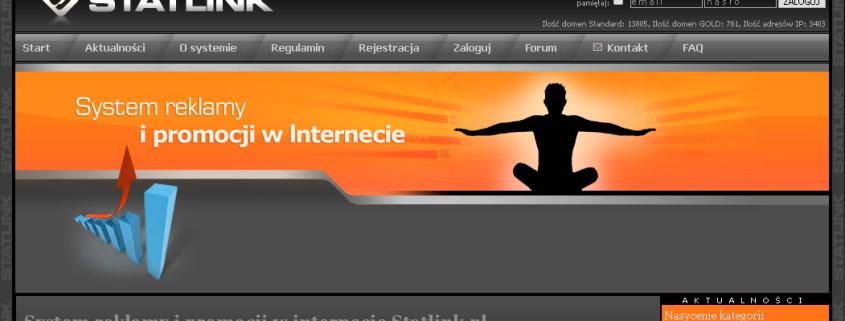 System reklamy i promocji w Internecie STATLINK.