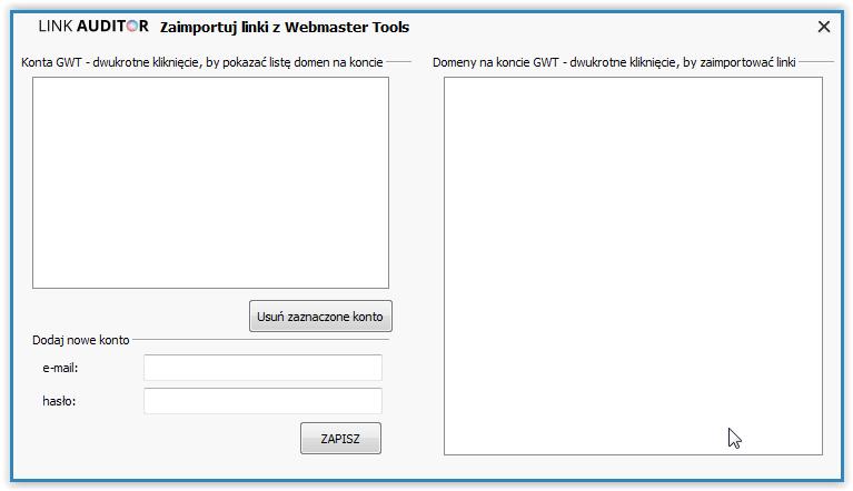 Link Auditor- import z consoli google